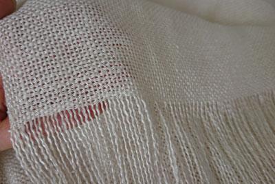 真綿紬のストール