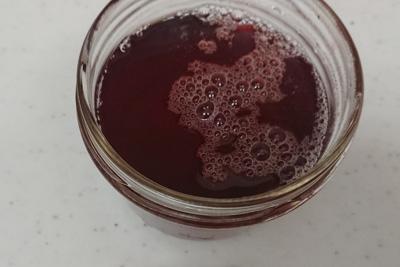 酸化後の染液の色