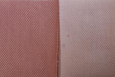 濃染処理の有無での赤茶色の違い
