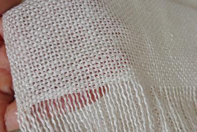 真綿紬のシルクストール