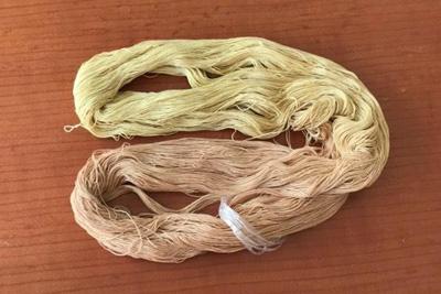 柿染め重ね染め刺し子糸