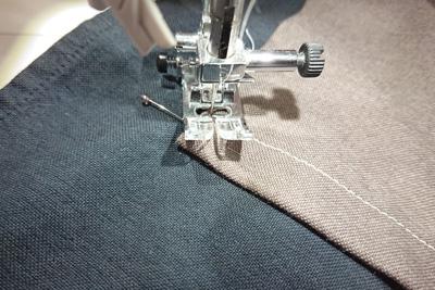 三角部分から縫う