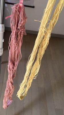 柿染め刺し子糸