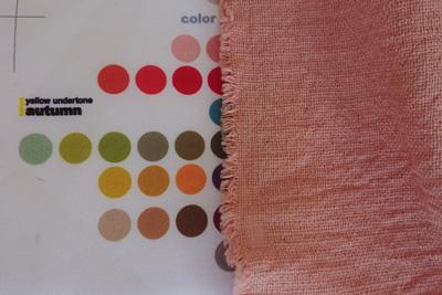 パーソナルカラーオータムの色見本