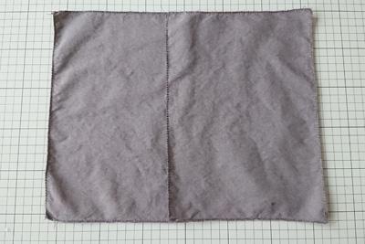 ヤシャブシ染めポケット用の木綿生地