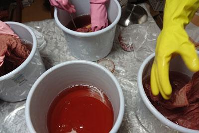 2番液での染色