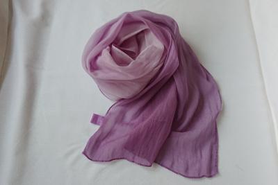 紫根染めシルクスカーフ