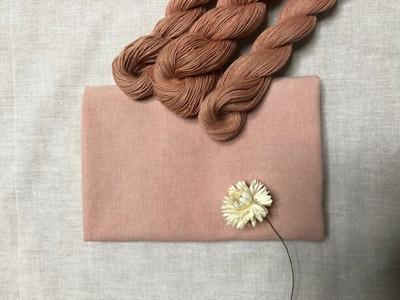 ソヨゴ染めの晒しと糸