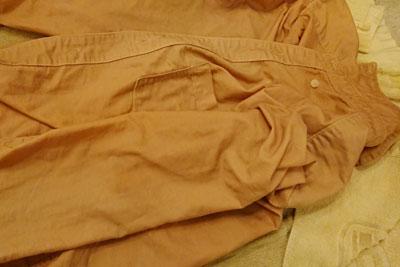 ブルーベリー染めシャツ濡れた状態