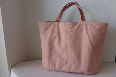 椿染め帆布トートバッグ