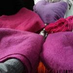 ウールマフラー草木染め体験ワークショップ