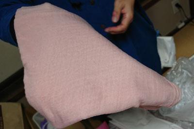 桜色に染まったバンブーストール