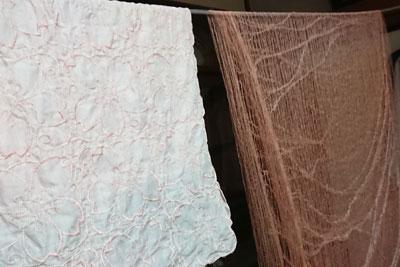 木綿ハンカチとシルクオーガンジーストール