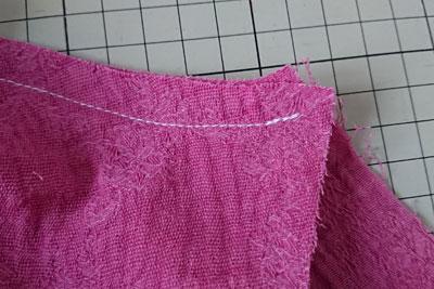 袖の縫い代