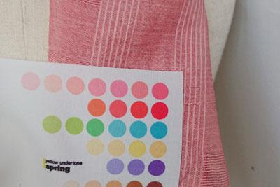 桜とコチニールの重ね染めの色1