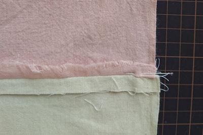 継ぎ足した位置の縫い代