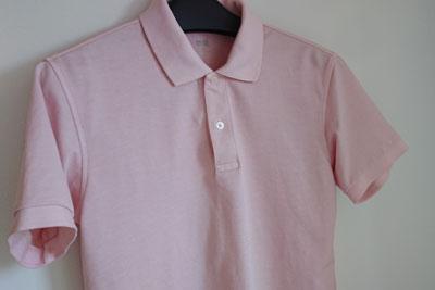 アボカド染めのポロシャツ