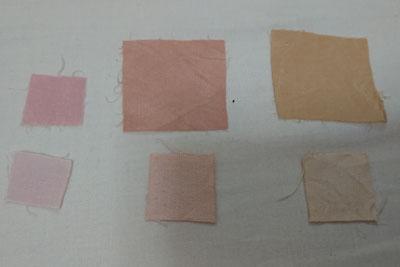 ベニカナメモチで染まった色