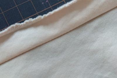 縫った後の襟ぐり