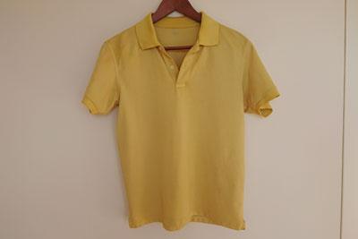 どくだみ染めポロシャツ