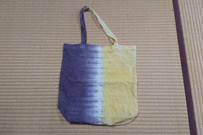 染色11か月後のトートバッグ