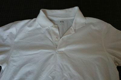 ユニクロの綿ポリのポロシャツ