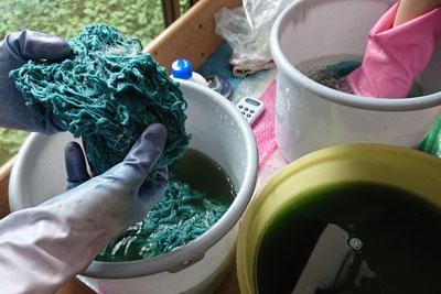 インドのシルク手紡ぎ糸