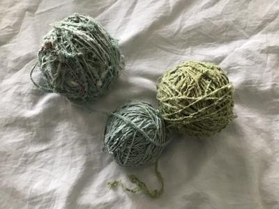 藍の生葉染めインドシルク糸