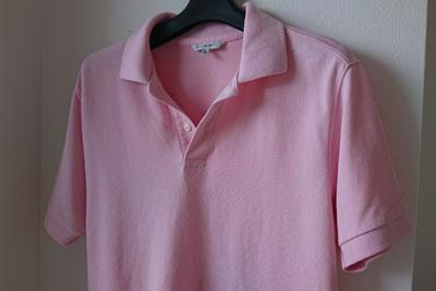 ユニクロのポロシャツピンク