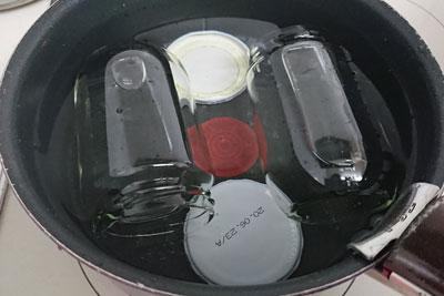 瓶の煮沸消毒