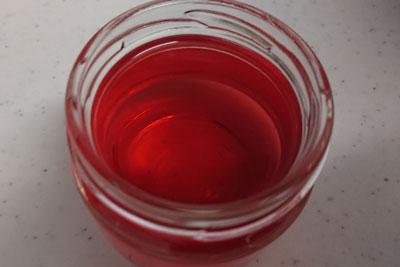 酸化マグネシウム入りアボカドの種3番液の色酸化後
