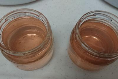 アボカドの種2番液の色酸化前