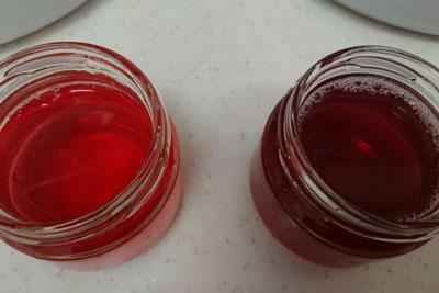 アボカドの種2番液の色酸化後