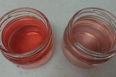 アボカドの種3番液の色酸化前