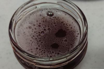 アボカド染液重曹入り煮出し酸化後