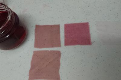 アボカド皮と種酸化マグネシウム入り染色1回目