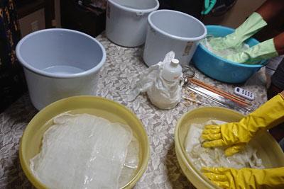 木綿の濃染処理