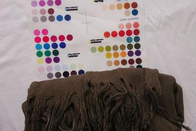 黒染めストールの現在の色