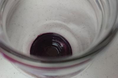 ぶどうの皮の染液のオリ