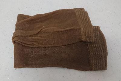 濡れた状態の靴下