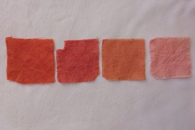インドアカネ残液で染まった色