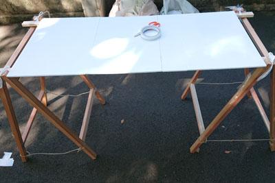 テーブル面のボード設置