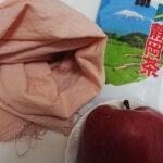 お茶とリンゴでピンクに草木染め