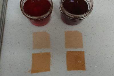 紅茶染液1回目の色