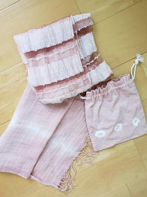 桜染め布小物