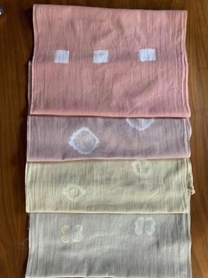 レッドロビン染め綿布