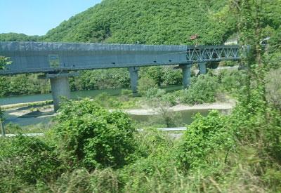 津山線の車窓風景